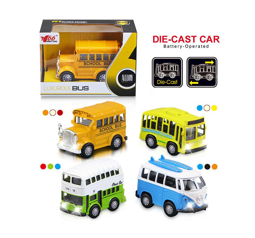 Металлический автобус 1:36  инерционный