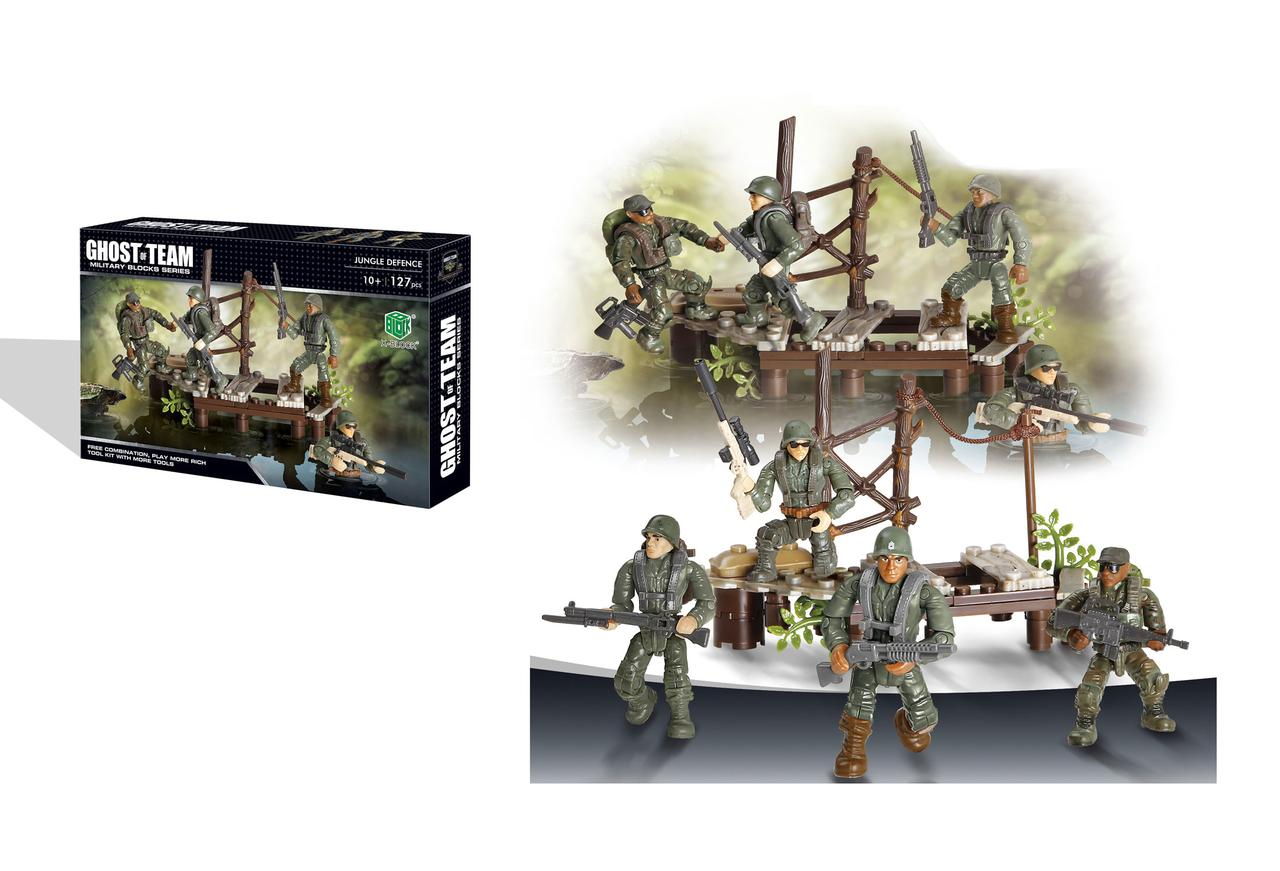 Набор конструктор военный с Специальные войска 127 дет