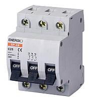 Модульный автоматический выключатель ENERGIO SP-4B 3P C 25А 4.5кА