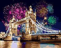 Картина раскраска по номерам на холсте 40*50см Babylon VP479 Салют над Лондоном