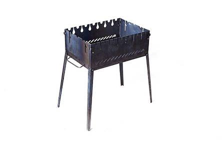 Розкладний мангал Smoke House чемодан на 6 шампурів зі сталі, фото 2