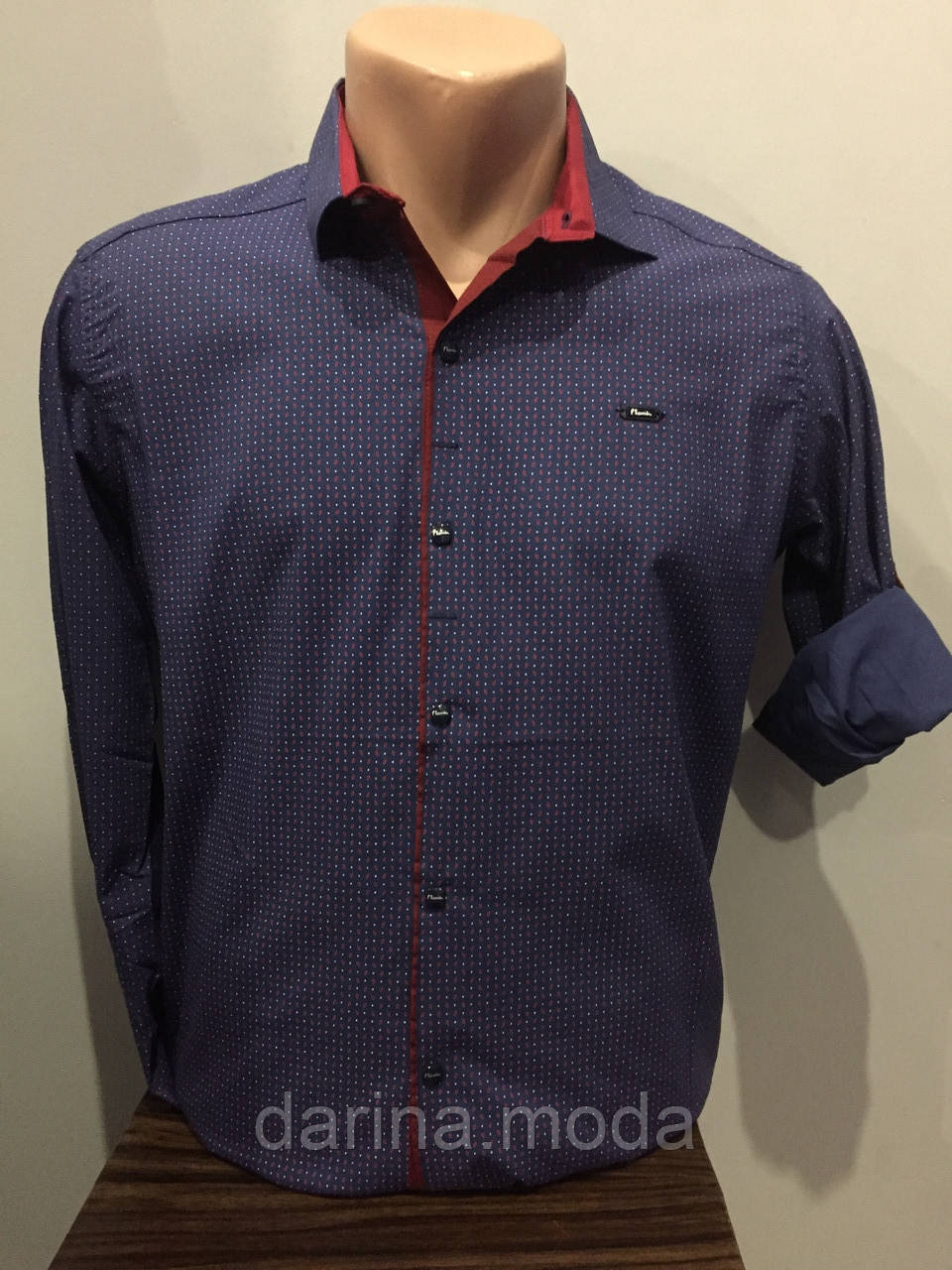 Мужская рубашка на кнопках S-2XL