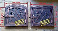 Дверка металлическая для духовки печи, грубу, барбекю, фото 1