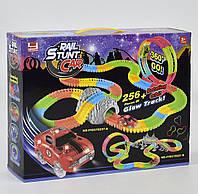 Дитячий гоночний трек з 1 машинкою FYD 170237 A, світиться в темряві, мертва петля, 256 деталей