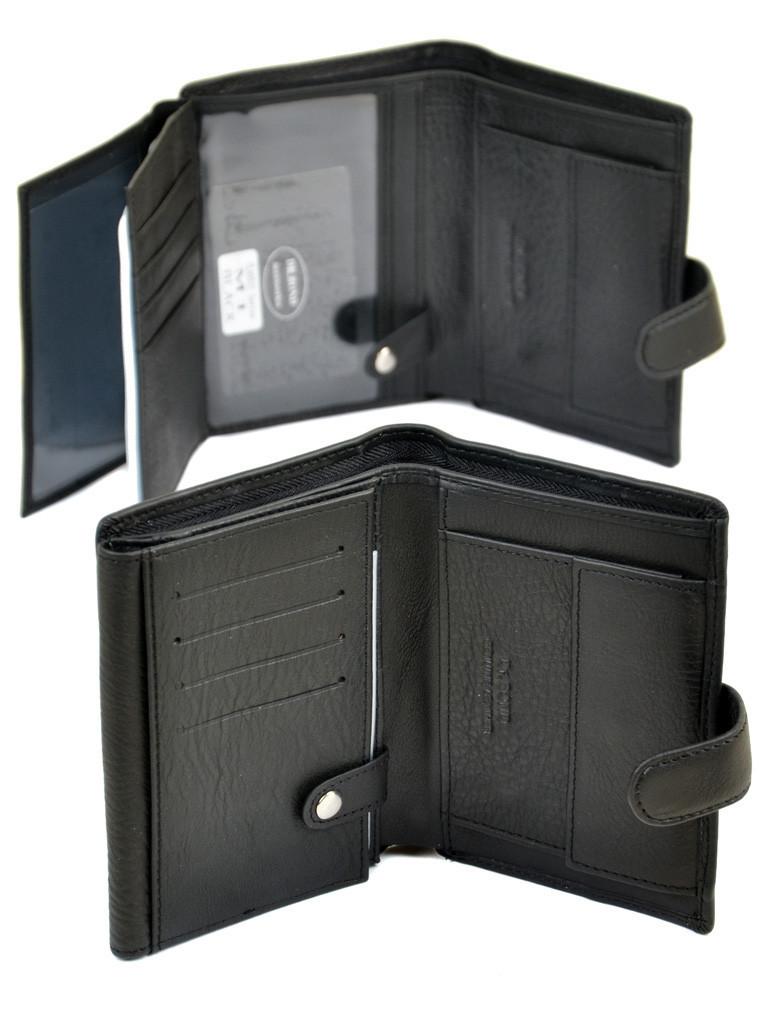 Большой мужской кожаный кошелек DR. BOND RFID M1 с защитой от считывания данных