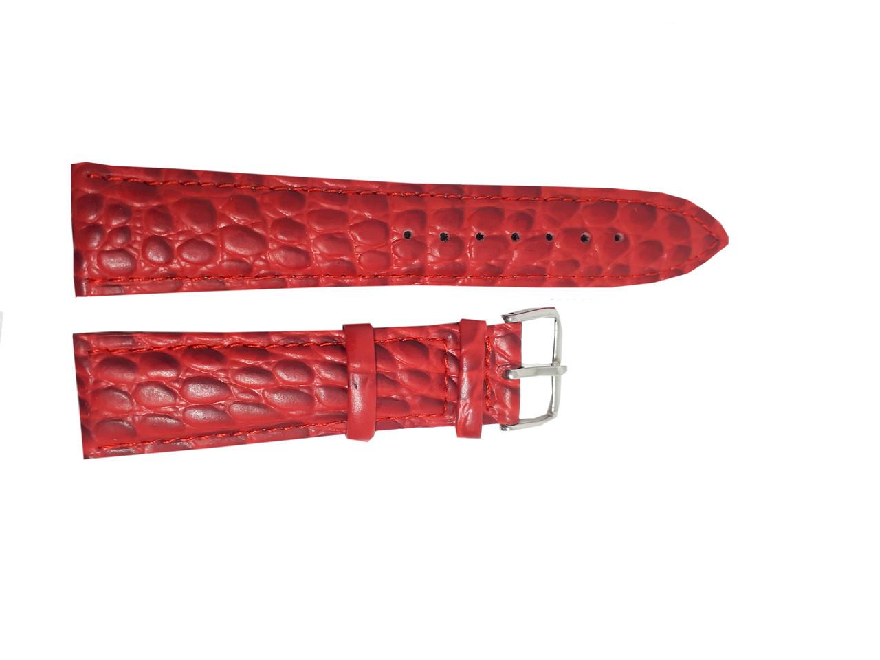 Ремешок  для часов JN 22мм красный змея опт