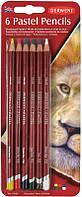 Набор карандашей пастельных Pastel Derwent 6шт. в блистере 39009