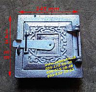 Дверка печная (алюминиевая) (100х100 мм) сажетруска, сажечистка, фото 1