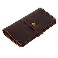 Кожаное портмоне «Promin Brown» мужское коричневое (17x9,75 см) ручной работы от pan Krepko