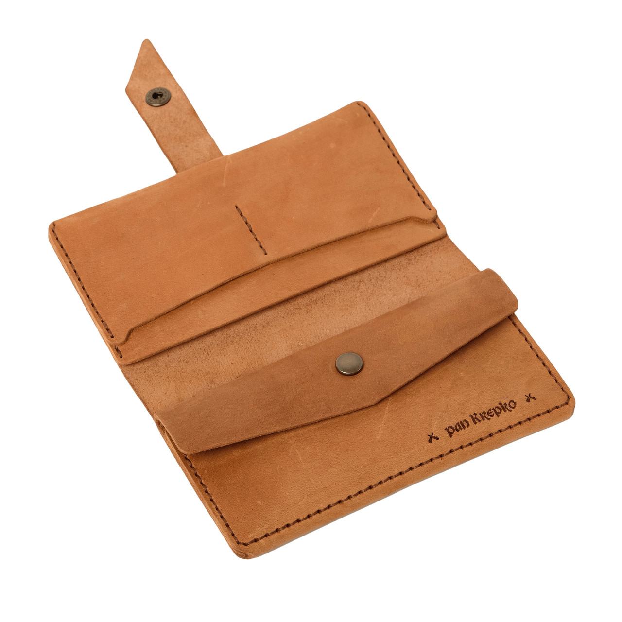 Кожаный кошелек Promin Песочный