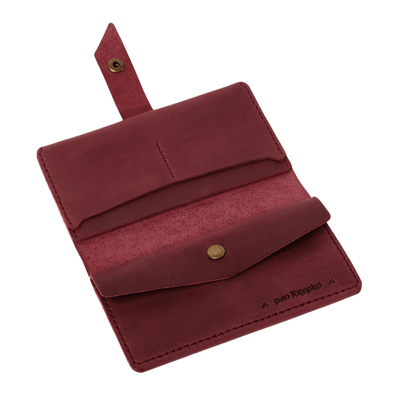 Кожаный кошелек Promin Бордовый