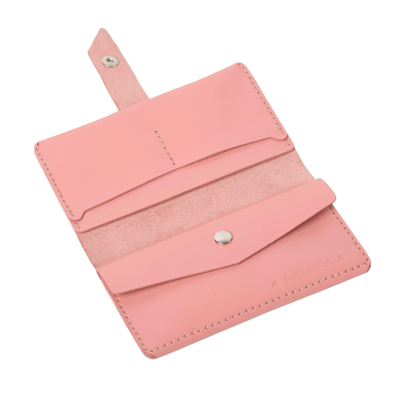 Кожаный кошелек Promin Розовый