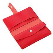 Шкіряний гаманець «Promin Red» жіночий Червоний (17x9,75 см) ручної роботи