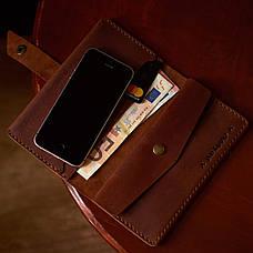 Кожаный кошелек Promin Красный, фото 3