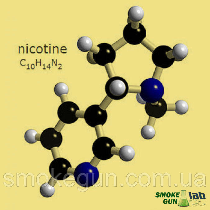 Никотин 100мг/мл в фасовке 100мл - SMOKE GUN -  электронные сигареты для своих. в Сумской области