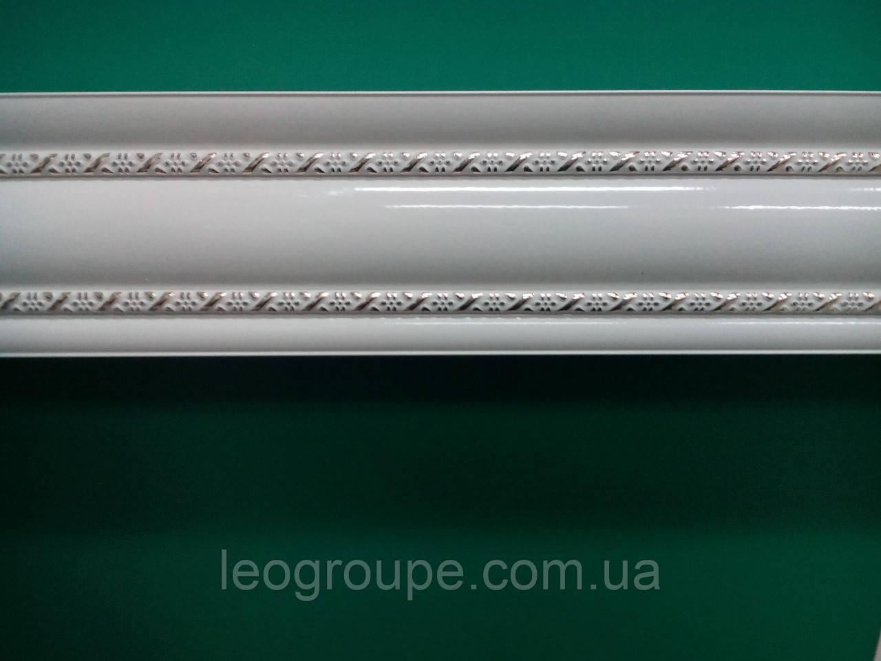 Карниз алюминий двойной  белый молдинг 2 -1,5м
