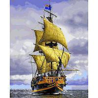 Картина раскраска по номерам на холсте 40*50см Babylon VP888 Пиратский корабль