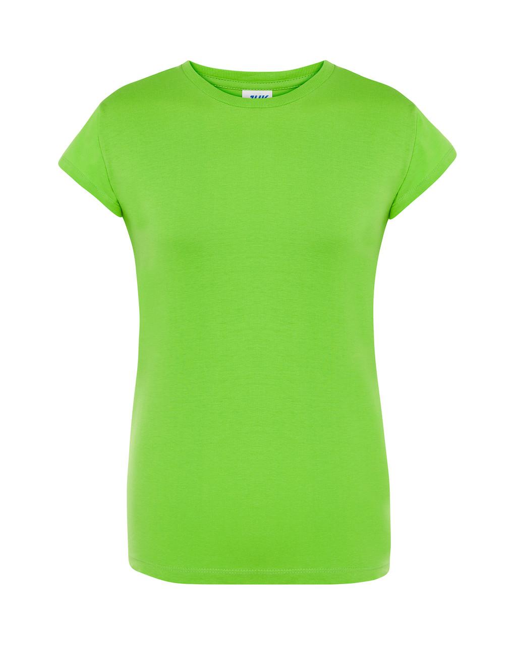 Женская футболка JHK COMFORT LADY цвет салатовый (LM)