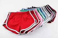 Шорты женские спортивные, хлопок, окантовка. Два цвета
