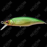 Воблер Megabass GREAT HUNTING 50 FLAT SIDE (F) col. M LIME GOLD