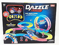 АвтоТрек DazzleTracks 187 деталей, длинна 425 см, с пультом управления, меджик трек, свет, звук, фото 1