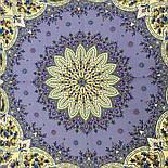 Дикий мёд 1712-1, павлопосадский платок шерстяной (двуниточная шерсть) с шелковой бахромой, фото 3