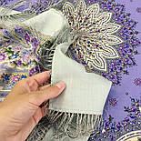 Дикий мёд 1712-1, павлопосадский платок шерстяной (двуниточная шерсть) с шелковой бахромой, фото 4