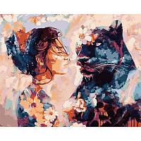 Картина раскраска по номерам на холсте 40*50см Babylon VP967 Звездная пантера