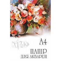 Бумага для акварели А4 200г/м2 Трек Папка 10 листов Среднее зерно А4-10