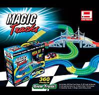 Дитячий гоночний трек з 2 машинками Magic Tracks FYD 170209 A, світиться в темряві, 360 деталей