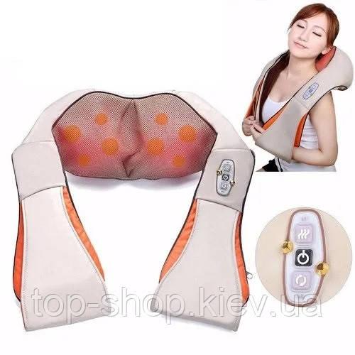 Роликовый массажёр Massager of neck kneading для шеи и плеч 24W