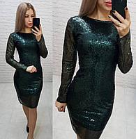 Ошатне жіночна сукня з відкритою спинкою, арт 184, зеленого кольору, колір зелений, фото 1