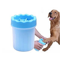 Лапомойка - стакан Soft gentle для собак 11 см синяя, фото 1
