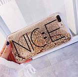 Чехол для 6 / 6S iPhone NICE золотой динамический песок, фото 2