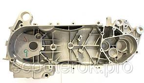 """Картер левый длинный для двигателя 4T GY6-150 куб. под 12/13"""" колесо."""