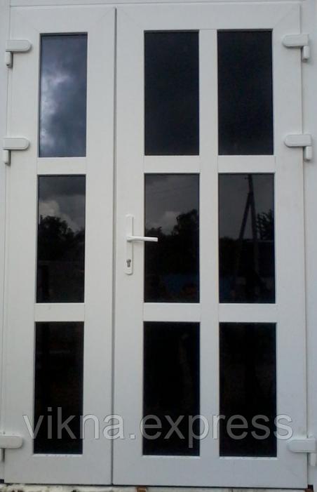 Двух-створчатые Пластиковые входные двери Steko 1200*2050