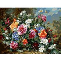 Картина раскраска по номерам на холсте 40*50см Babylon VP1049 Роскошные розы