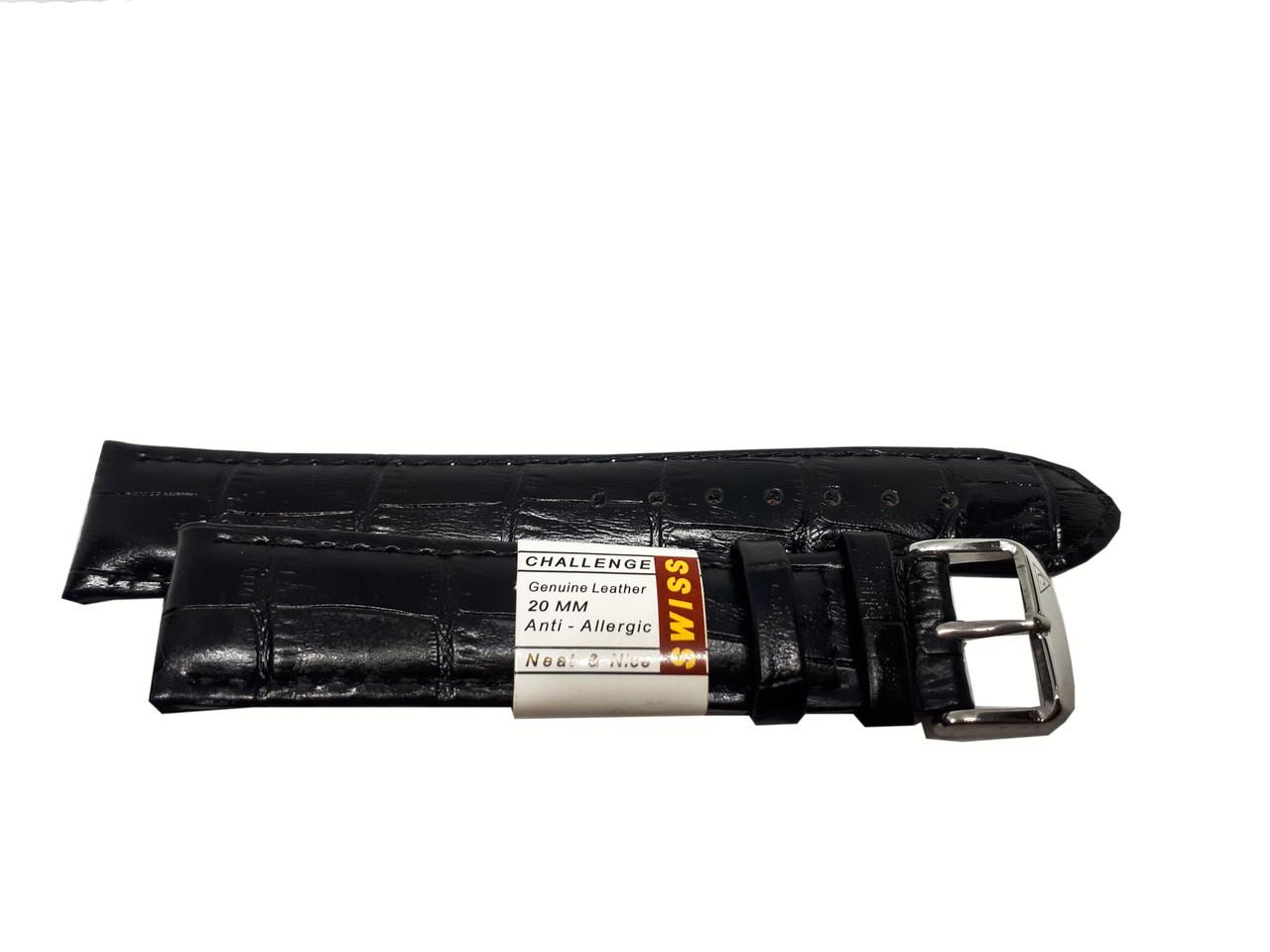 Ремешок Swiss для часов 20 мм черный