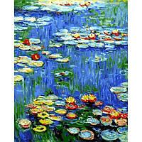 Картина раскраска по номерам на холсте 40*50см Babylon VP1103 Водяные лилии