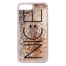 Чехол для 7  iPhone NICE золотой динамический песок