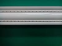 Карниз алюминий белый молдинг2-2м