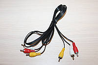 Видео-Аудио кабель 3RCA-3RCA 1.5m