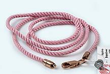 Шнурок детский крученый розовый с позолотой 40 см Милан 226 2.0з
