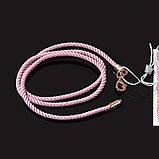Шнурок дитячий кручений рожевий з позолотою 35 см Мілан 226 2.0 з, фото 2