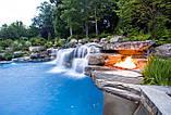 Фонтаны, Водопады и Бассейны из Бетона и Камня. Искусственные Водопады. Облицовка Камнем вокруг Бассейна., фото 6
