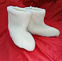 Меховые сапожки-чуни домашние для взрослых,мужчинам и женщинам, унисекс (Шерсть) с 36 по 44 размер