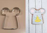 Высокопрочная Вырубка для пряника и печенья Мышка, символ года