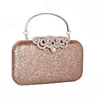 Вечерний клатч,золотой клатч,женская сумка