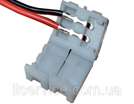 Коннектор с проводом для светодиодных лент IP33 2PIN левый