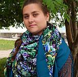 Диво дивное 1798-12, павлопосадский платок (шаль) из уплотненной шерсти с шелковой вязанной бахромой, фото 4